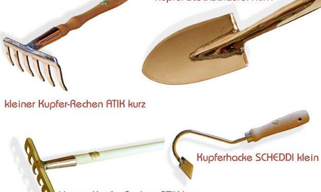 Kupfer-Gartengeräte neu 03 2017