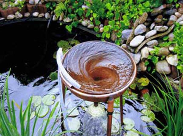 Teich mit Schauberger-Trichter