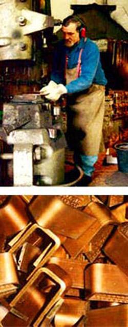 Herstellung der Kupfer-Handgeräte
