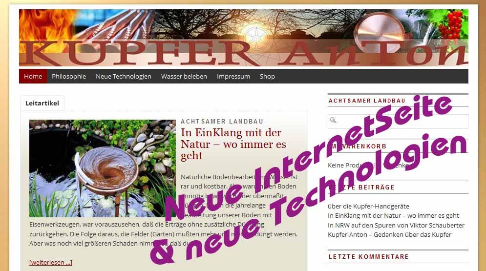 Kupfer-Anton – neue InternetSeite